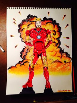 Iron Man GLITTER explosion! by The-AllSparkle