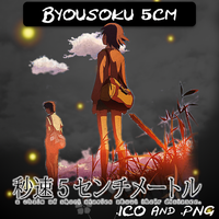 Byousoku 5cm ICO and PNG by bryan1213