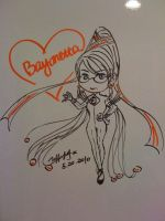 Bayonetta on white board by hayatecrawford