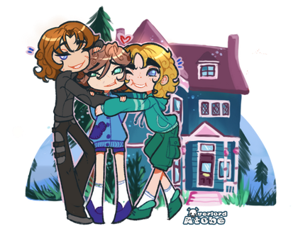 Curly family by Atobe333