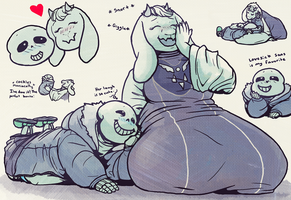 Soriel Doodles by BloodyDragon117