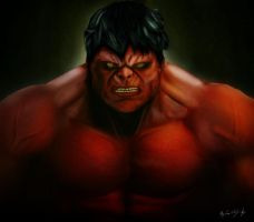 Red Hulk by BlackPicasso1989