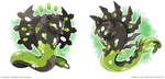Wave Zygarde and Arrow Zygarde by Tomycase