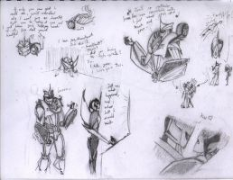 Knockquency!!!- Sketches 02 by Redrosesforever
