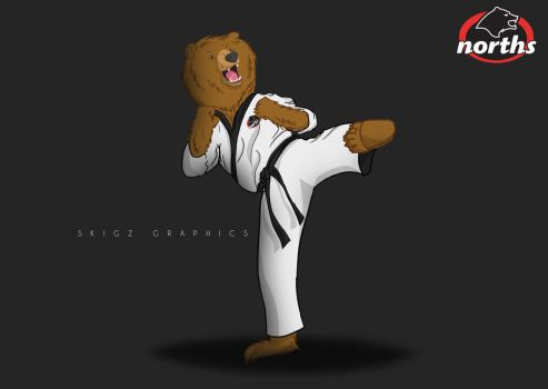 Karate Bear! by SKIGZdoesART