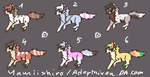 Chibi Wolves Adopts 50 PTS EACH 6/6 OPEN by Adoptrixen