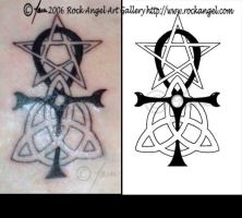 Pagan Symbols Tattoo Design by SpiritOnParole