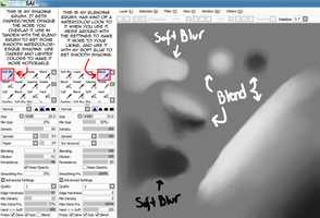 Soft Blur/Blend SAI Brush Settings by Natakiro