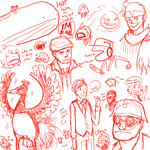 ENTIRE TEAM IS SKETCH DUMP by chelly-chan