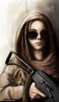 Girl With Ak47 by YeshuaNel