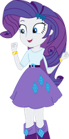 Vector - Happy Rarity by JustinKWork