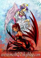 angel and demon color 2 by Meilily
