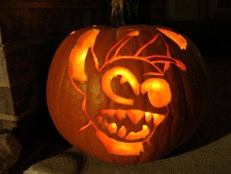 Stitch Pumpkin Carving by Trista-Willows