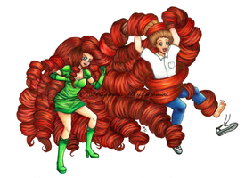 Copic Commission - Hair Revenge by Cypernelli