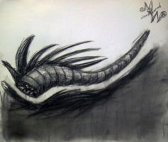 Parasitic Worm - Charcoal by whatonearth