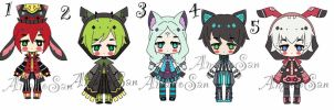 Cheap Kemonomimi batch adoptable closed by AS-Adoptables