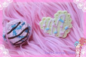 sweet treats rings by CandyStripedCafe