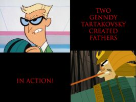 Two Fathers by Genndy Tartakovsky in action! by timbox129