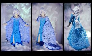 Queen Elsa Disney's Frozen crochet amigurumi Dolls by el-desant