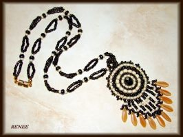 Brown Indian necklace by jasmin7