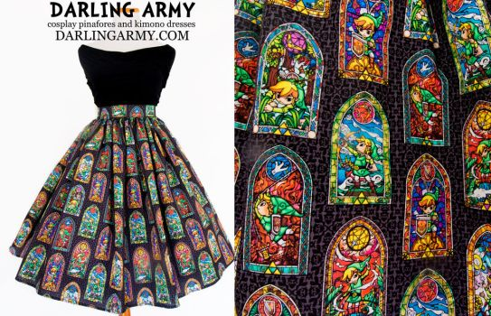 Legend of Zelda Windwaker Stained Glass Skirt by DarlingArmy