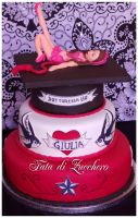 Rockabilly Graduation cake 01 by Dyda81