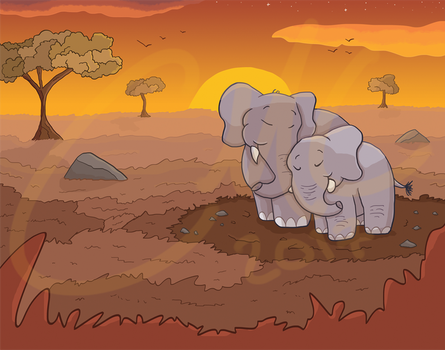 Elephants (Commission) by FireFly703