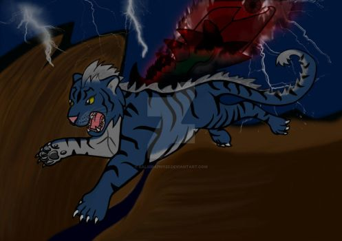 Russian Blue Tiger by Kaligraphy22