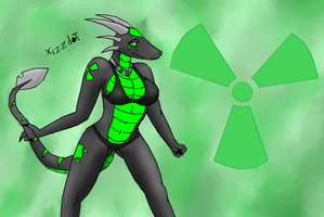 Request: Toxic the dragoness by XizzDot