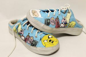Adventure Time Shoes (size 9 - for sale :)) by Ashleyley92