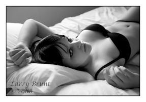 Valerie on Bed II by inessentialstuff