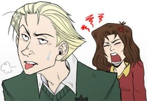 Draco nd Hermione by valval