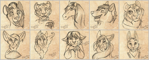 Free Sketches by Fayolka