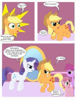 Applejack's foul mouth by T-Brony