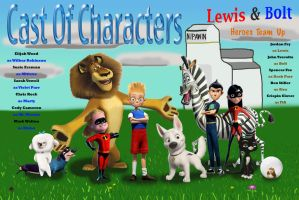 Lewis and Bolt: Heroes Team Up by beagle162