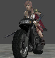 Lightning on Motorcycle Angle2 by blackkat9666