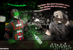 MKX - Ermac and Erron at a Bar - Kold War Edition by SovietMentality