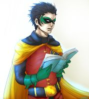 Reading Robin by LALASOSU2