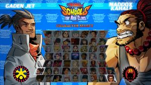 Rival Schools: TNC Character select JAM! v2! by Dreviator