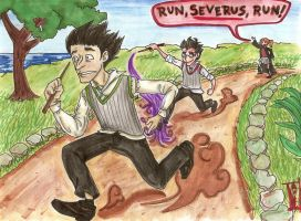 Run, Severus, Run by RustyGrass33