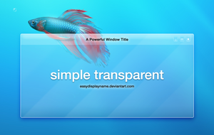 Simple Transparent by easydisplayname