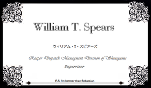 William T Spears card by DragonRageX