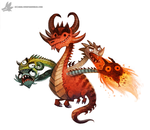 Daily Painting #918 - Tiamat by Cryptid-Creations