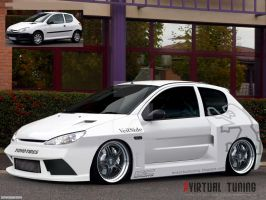 Pug 206 Wide Kit by TMSVirtualTuning