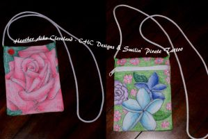 For Sale: Rose and Flowers Bag by SmilinPirateTattoo