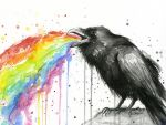 Raven Tastes the Rainbow by Olechka01
