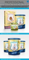 Baby Food Packaging Design Mockup by idesignstudio
