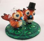 Pepe Love Birds Wedding Cake Topper by DragonCid