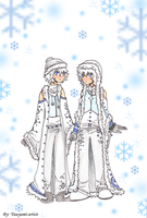 Elemental Twins-Snow by yuuyami-artist