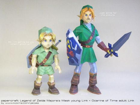 OoT + MM papercraft Links by ninjatoespapercraft